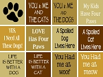 Pet Cat & Dog  STENCILS -WB-SET 42- 12 PC  Shelf Sitter Set -Reusable Sign stencils